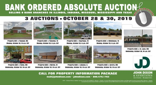 Bankruptcy Auction of Bank Branch Buildings