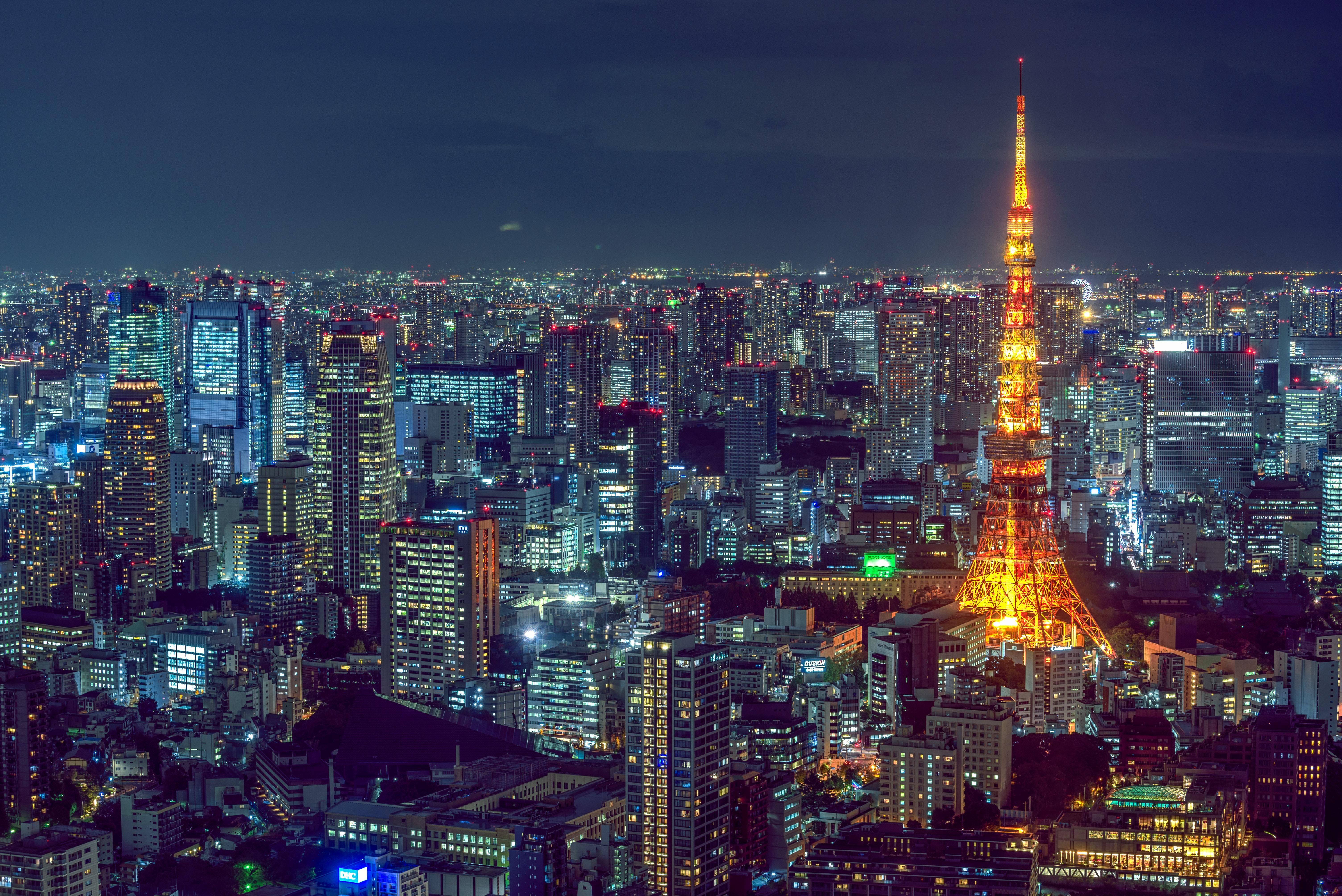 Night skyline of Tokyo