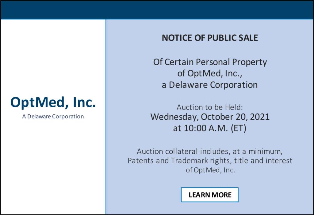 OptMed, Inc. Public Sale